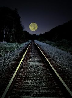 Track to the moon....