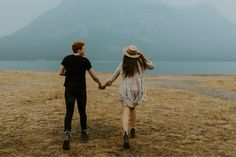 Kananaskis Engagement Photos | This foggy, warm day was so precious, celebrating and documenting their engagement photos in Kananskis.