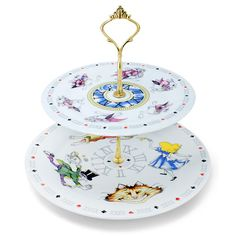 Cardew Design - Alice In Wonderland Two Tiered Cake Stand