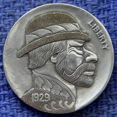 Steve Cox - Bearded Man Wearing Derby - Modern Superior 29D VF/EF Hobo Nickel, Antique Coins, Jewelry Collection, Derby, Buffalo, Cactus, Antiques, Modern, Succulents