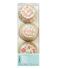 This 'I Love Cupcakes' Mini-Cupcake Liners - Set of 96 by Meri Meri is perfect! #zulilyfinds