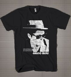 Bruno Mars Typography  Mens and Women T-Shirt Available Color Black And White