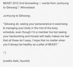 BEAST 2012 fanmeeting :: Junhyung to Gikwang