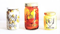 DIY Print Transfers with Packing Tape - Super cool way to upcycle and decorate your mason jars and storage containers.