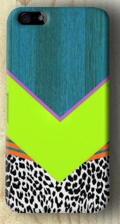 Leopard chevron iphone case