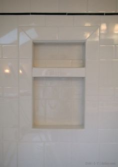 How to install a tiled niche in the bathroom (two-part series) using affordable subway tiles