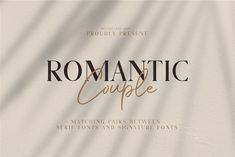 Romantic Couple // Font Duo by Bluestudio on @creativemarket Romantic Couple is the perfect collection of fonts for any design project that requires a light and charming feel. Use it to turn any design project into a true standout! Handwritten Fonts, Script Fonts, Typography Fonts, New Fonts, Typography Design, Hand Lettering, Serif Font, Fonts For Logos, Graphic Design Fonts