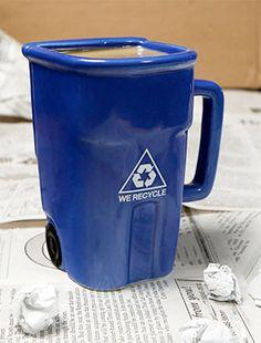 Recycle bin coffee mug