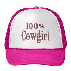 buy popular d8e65 092ac 100% Cowgirl - (pink brown plaid lettering) Mesh Hat