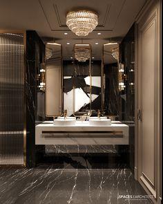Luxury Private residence in Palestine Washroom Design, Bathroom Design Luxury, Luxury Interior Design, Modern Luxury Bathroom, Luxury Home Decor, Design Kitchen, Interior Ideas, Home Room Design, Dream Home Design