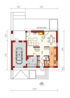 E14 G1 ECONOMIC: Parter Small Modern House Plans, Modern Bungalow House, Physics Classroom, Logic Puzzles, Good House, Kitchen Design, Floor Plans, How To Plan, Home Decor