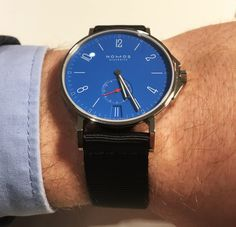 Nomos Ahoi Datum signalblau Baselworld 2017 Rolex, Baselworld 2017, Watch Companies, Watches, Omega Watch, Highlights, Lifestyle, Accessories, Gnomes