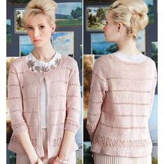OPEN FRONT CARDIGAN  Vogue Knitting Early Fall 2014 #2  Design by Pat Olski