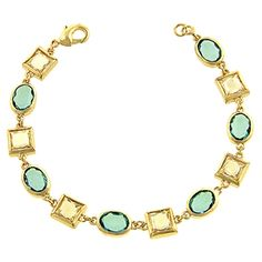 Go on holiday to St. Tropez and shimmer like the sea in this aquatic bracelet.
