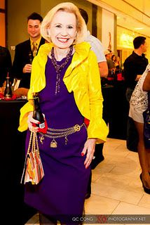 One of Dallas leading style stars and charity advocates, Mrs. Yvonne Crum.