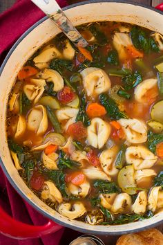Tuscan Tortellini Vegetable Soup - Cooking Classy