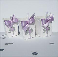Carousel Horse Lavender & Silver Popcorn Boxes