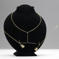 George Rickey gold-plate steel wire kinetic necklace