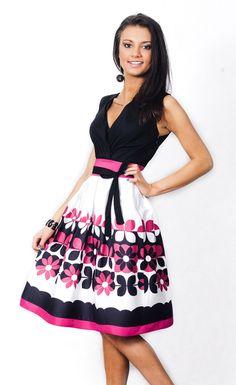 Sukienka LOCA Geometria (róż) w Livia Clue na DaWanda.com