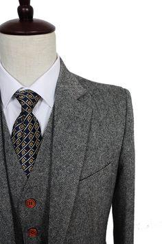 db527105729 Mens Suit Retro Gentleman Style Suit Classic Tweed Suit For Men