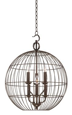 Industrial Candelabra 6-Light Cage Pendant Light | 55DowningStreet.com