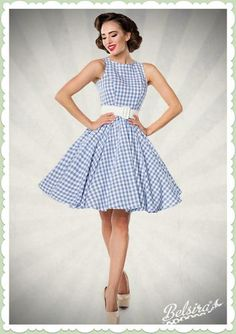 Karokleid - Damen Rockabilly Pin up Retro - Mode Rockabilly, Rockabilly Fashion, Rockabilly Dresses, Pin Up Outfits, Girly Outfits, Casual Dresses, Short Dresses, Fashion Dresses, Dress Attire