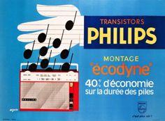 Philips transistor radio ad, France