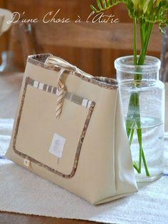 Mon organiseur de sac Dune, Paper Shopping Bag, Couture, Baskets, Clutch Bag, Clutch Bags, Purse, Embroidery, Haute Couture