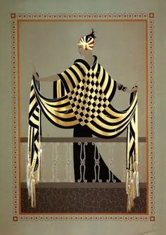 Erte's Art Deco piece The Balcony