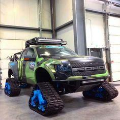 Shut up and take my money. Ford Raptor on Trax Ford Trucks, Diesel Trucks, Custom Trucks, Lifted Trucks, Pickup Trucks, Ford 4x4, Lifted Ford, Ford Ranger Truck, Dodge Diesel