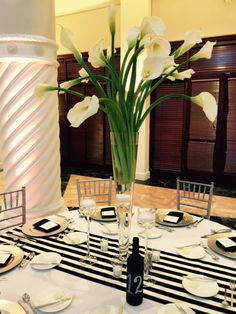 White calla centerpiece #Westin Colonnade
