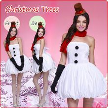 The New Christmas Cosplay Costumes Christmas Snowman Role Play The Princess Dress White Disfraces High Quality C1581922
