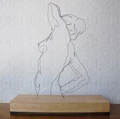 Wire sculptures by Gavin Worth.