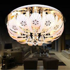 Simple Modern Crystal Bedroom Ceiling Lamp Dining Room Ceiling Lamp Study Room Ceiling Lamp