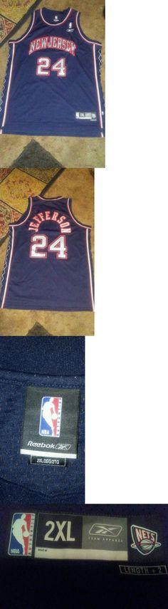 Sports Memorabilia: New Jersey Nets Reebok Authentic Jersey Jefferson 24 Size 2Xl /Lot Of 2 BUY IT NOW ONLY: $35.99