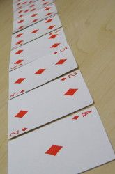 Probability- math reasoning - I've seen this activity using coins, chips, etc, but not cards. I think the kids will like using the deck of cards.
