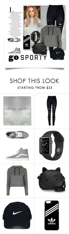 """""""Go sporty"""" by babis117 ❤ liked on Polyvore featuring Benson-Cobb Studios, WithChic, Vans, Topshop, Loungefly, Nike Golf and adidas"""