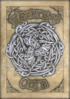 Neo Norse Odin 2011 by VillKat-Arts on DeviantArt Examples of almost the same motif and composition in different knotwork styles. I made one 2 years ago and I thought it was time to draw an updated version. Odin Norse Mythology, Celtic Symbols, Celtic Art, Celtic Knots, Norse Tattoo, Celtic Tattoos, Viking Art, Viking Runes, Celtic Patterns