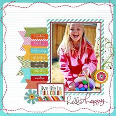 Simple stories - I Heart Summer Collection layout