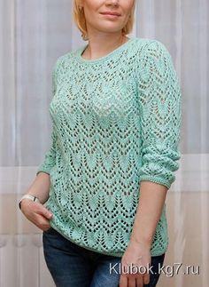 Пуловер красивым узором спицами. Обсуждение на LiveInternet - Российский Сервис Онлайн-Дневников