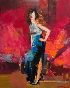 """Wine Room No2"" Natalia Baykalova Oil on canvas 31"" x 39"""