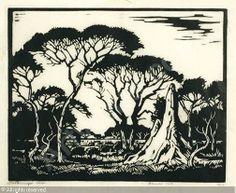 Jacob Hendrik Pierneef, Miershoop linocut Linocut Prints, Art Prints, Block Prints, South Africa Art, Linoprint, South African Artists, White Art, Art Images, Fiber Art