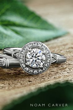 noam carver engagement rings vintage engagement rings halo engagement white gold engagement rings noam carver Best Engagement Rings, Halo Engagement, Vintage Engagement Rings, Or Rose, Rose Gold, Great Gifts For Mom, Stackable Rings, Diamond Rings, White Gold