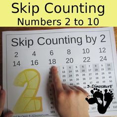 In these FREE Skip Counting Printables from 3 Dinosaurs you will find: Number 2 to 10 Skip Counting with 100 Chart File Math Classroom, Kindergarten Math, Teaching Math, Math For Kids, Fun Math, Math Resources, Math Activities, Math Games, Formation Continue