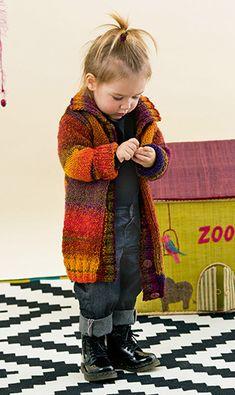 Kindermantel aus Lang Yarns West | Strickanleitung | buttinette Bastelshop Knitting For Kids, Baby Knitting, Lang Yarns, Plaid Scarf, Knit Crochet, Boys, Cardigans, Fashion, Girls Coats