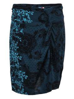 Desigual - Modrá vzorovaná sukně  Cokqui - 1