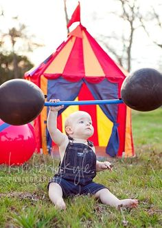 Haha... hysterical... what a strong baby!! 2013 VBS Colossal Coaster World Recreation Decor Ideas