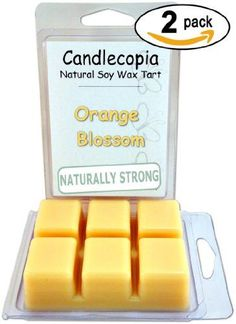 Introducing Candlecopia Orange Blossom 64 oz Scented Wax Melts  Orange bouquet with a background of vanilla  raspberry  2Pack of naturally strong scented soy wax cubes throw 50 hours of fragrance when melted in Scentsy Yankee Candle or standard electric tart warmer. Get Your Ladies Products Here and follow us for more updates!