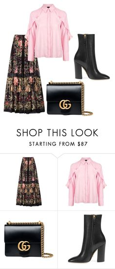"""""""Untitled #272"""" by hibiahclothes ❤ liked on Polyvore featuring Roberto Cavalli, Topshop and Gucci"""