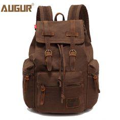 2f9699f1ef9b Find More Backpacks Information about AUGUR women and men s vintage canvas  bag laptop Backpack men travel